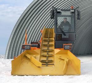 Снегопогрузчик лаповый DM09 вид спереди