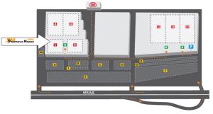 Схема расположения павильона №1