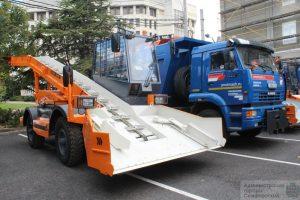 снегоуборочные машины DM доставлены в Симферополь