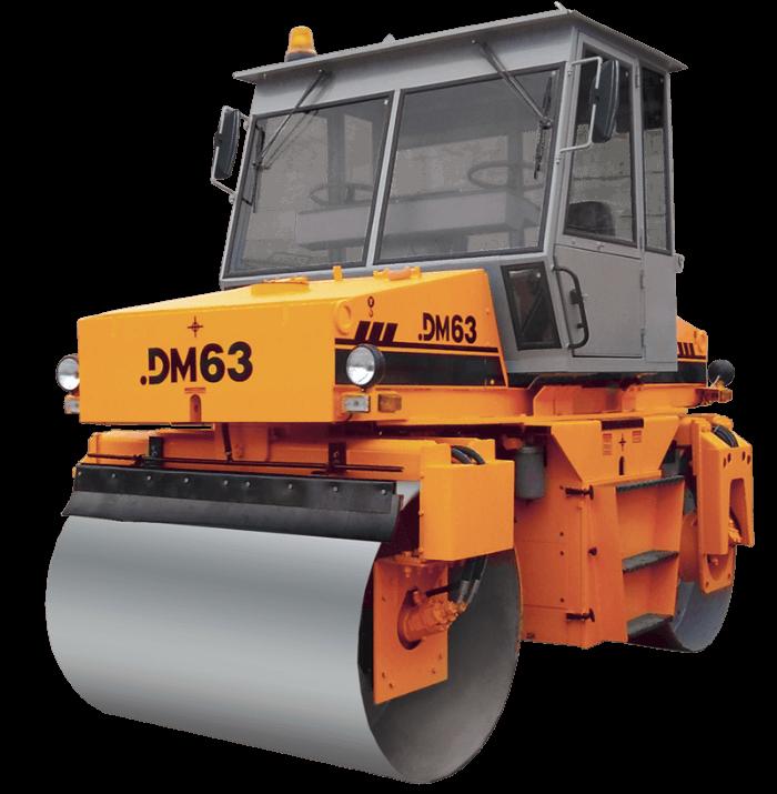 Каток дорожный двухвальцовый DM-63
